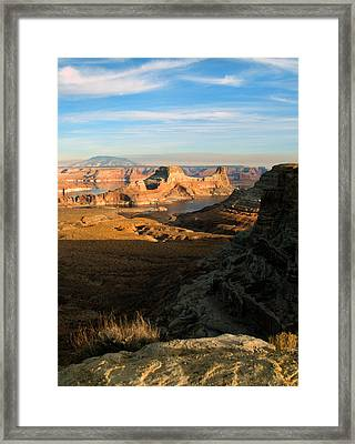 Lake Powell From Alstrum Pt 02 Framed Print