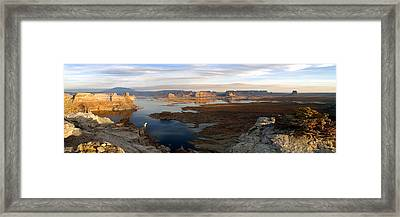 Lake Powell From Alstrum Pt Pan 2 Framed Print