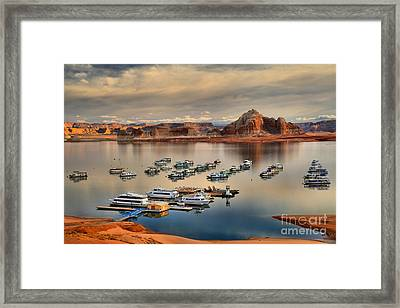 Lake Powell Reflections Framed Print