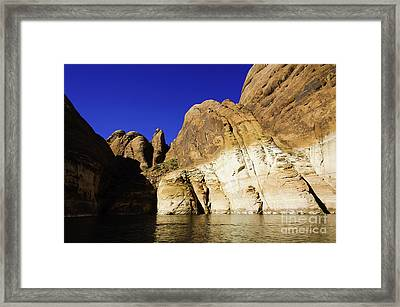 Lake Powell Rock And Sky Framed Print by Thomas R Fletcher