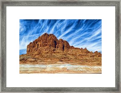 Lake Powell Rocks Framed Print by Ayse and Deniz