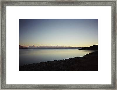 Lake Pukaki First Light Framed Print