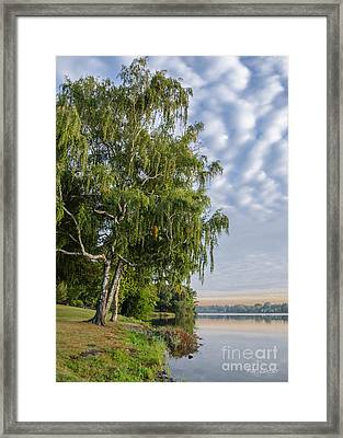 Lake Quannapowitt In Massachusetts  Framed Print by Pat Lucas