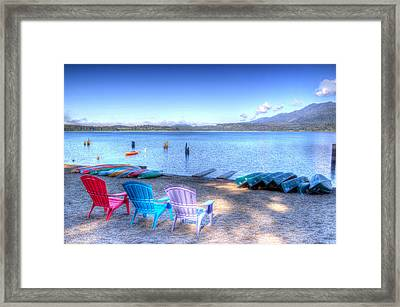 Lake Quinault Dream Framed Print by Heidi Smith