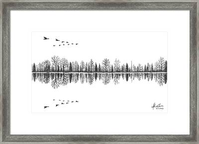 Lake Reflection Framed Print