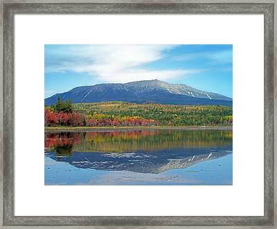 Framed Print featuring the photograph Lake Reflection by Gene Cyr