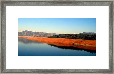 Framed Print featuring the photograph Lake Reflections by AJ  Schibig