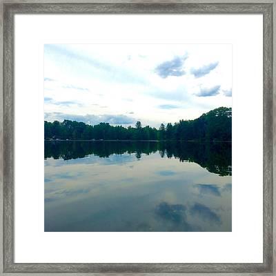 Lake Reflections Framed Print by Jeszy Arnold