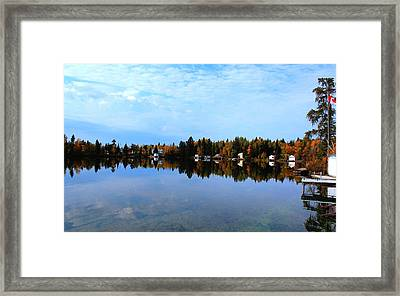 Lake Reflections Framed Print by Larry Trupp