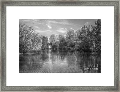 Lake Reflections Mono Framed Print