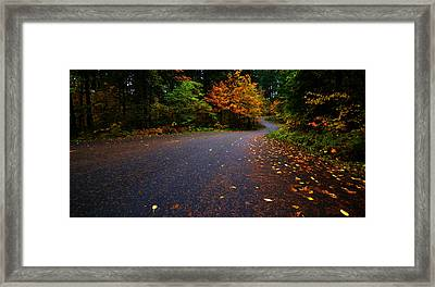Lake Road Framed Print