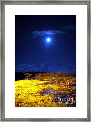 Moonrise Over Rochelle - Portrait Framed Print