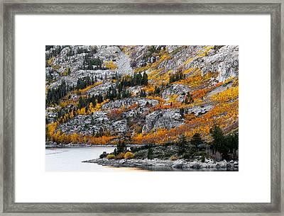 Lake Sabrina At Dawn Framed Print