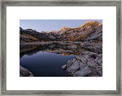 Lake Sabrina Fall Colors At Sunrise Framed Print by Scott McGuire