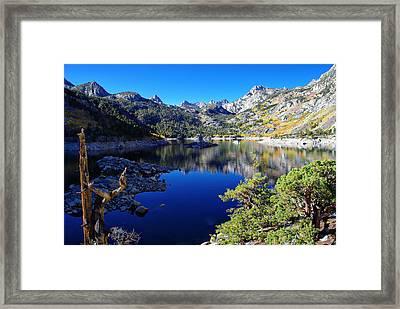 Lake Sabrina Fall Morning Framed Print by Scott McGuire