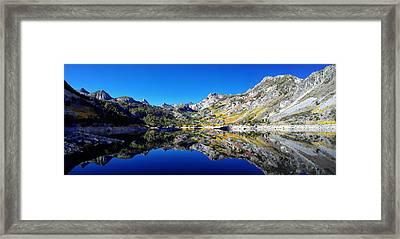 Lake Sabrina Fall Reflection Framed Print by Scott McGuire