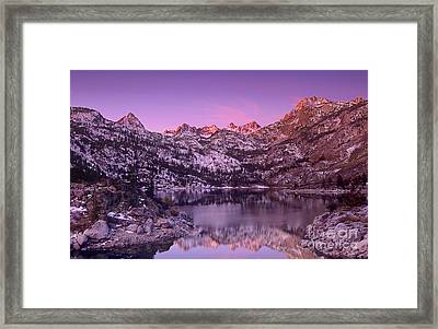 Framed Print featuring the photograph Lake Sabrina Sunrise Eastern Sierras California by Dave Welling