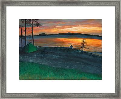 Lake Saimaa In Finland Framed Print