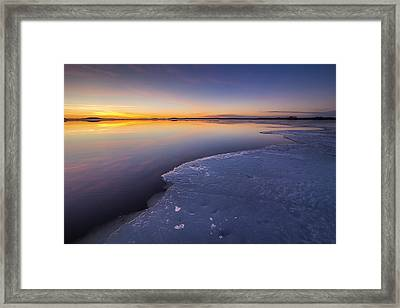 Lake Saimaa In March Framed Print