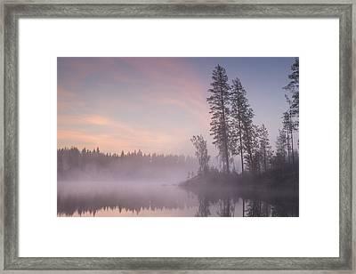 Lake Saimaa In September 4 Framed Print