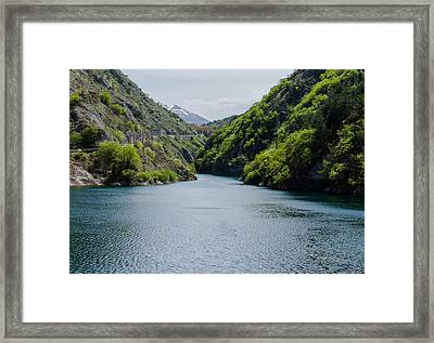 Italian Landscapes - Lake San Domenico Framed Print by Andrea Mazzocchetti