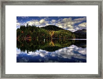 Lake Santeetlah In Fall Framed Print by Greg Mimbs