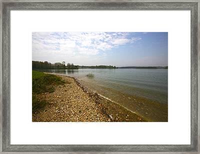 Lake Scene Framed Print by John Holloway