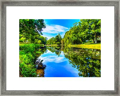 Lake Scene Framed Print