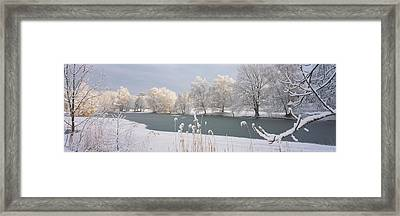Lake Schubelweiher Kusnacht Switzerland Framed Print