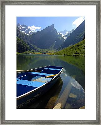 Lake Seealpsee Alpstein Canton Appenzell Switzerland Framed Print by PIXELS  XPOSED Ralph A Ledergerber Photography
