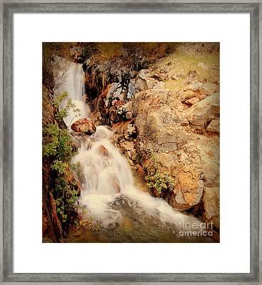 Lake Shasta Waterfall 2 Framed Print