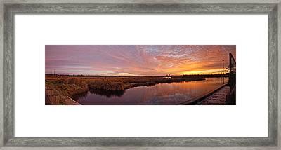 Framed Print featuring the digital art Lake Shelby Bridge by Michael Thomas