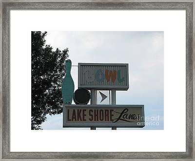 Lake Shore Lanes Framed Print