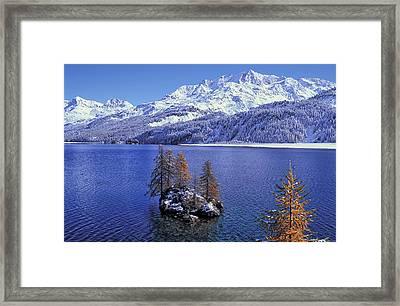 Lake Sils Framed Print by Christian Heeb