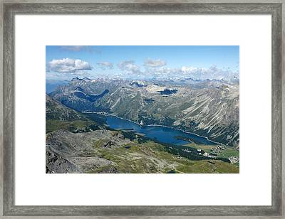 Lake Sils Framed Print by Christian Zesewitz