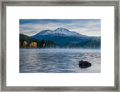 Lake Siskiyou Morning Framed Print
