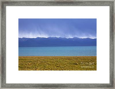 Lake Song Kul In Kyrgyzstan Framed Print by Robert Preston