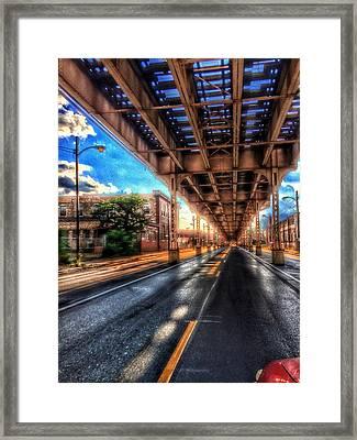 Lake Street El Tracks Framed Print