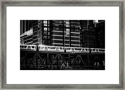 Lake Street L Framed Print