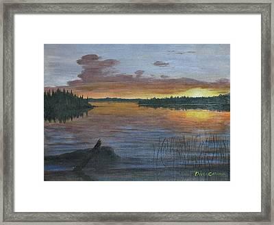 Lake Sunrise Framed Print by Dana Carroll