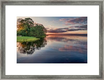 Lake Sunrise Framed Print by EXparte SE