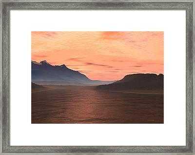 Lake Sunset 1 Framed Print