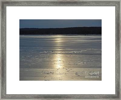 Lake Sunset 10 Framed Print by Ingrid L