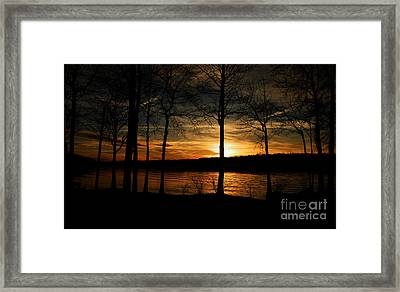 Lake Sunset Framed Print by Christy Ricafrente