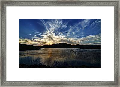 Lake Sunset In The Wichita Mountains Framed Print
