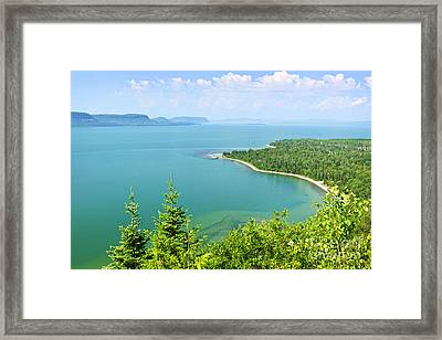 Lake Superior Framed Print by Elena Elisseeva