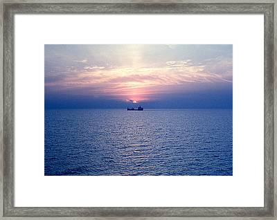 Lake Superior Evening Framed Print by George Cousins