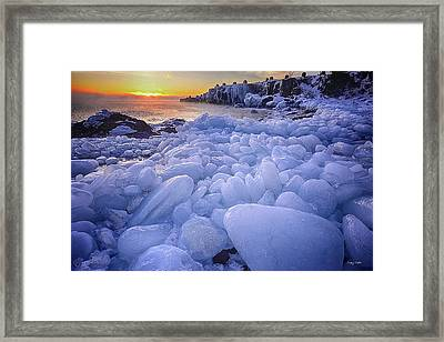 Lake Superior Ice Framed Print by Craig Voth