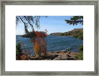 Lake Superior In The Fall Framed Print