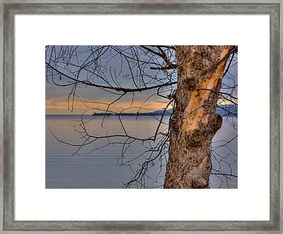 Lake Superior Framed Print by Larry Capra